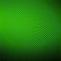 Modern green line wave background vector