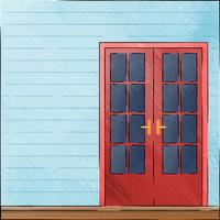 Hand Drawing Old Doors In Vintage Style On Watercolor Background vector