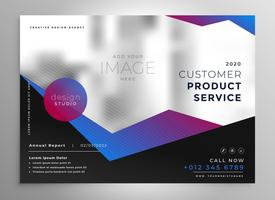 elegant professional geometric brochure presentation template