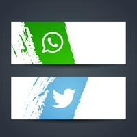 Moderna sociala medier banderoller