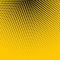 abstract yellow background with black halftone