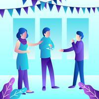 Illustrazione di feste e raduni
