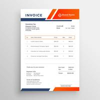 abstract geometric business invoice template