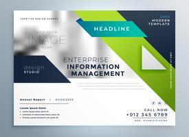 plantilla de folleto de negocios creativo geométrico profesional