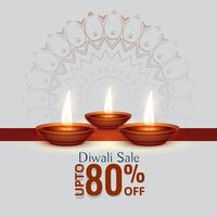 diwali festival sale background with three diya