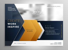abstract professional brochure design template