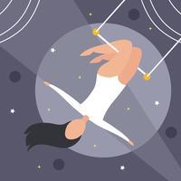 platt trapeze artist vektor