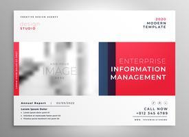 Plantilla de diseño de presentación de folleto en color rojo.