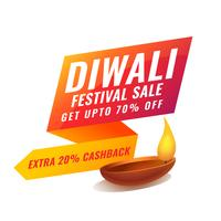 stylish diwali sale banner in bright vibrant colors