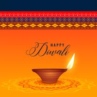 indian diwali festival with diya and ethnic background