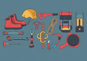 Camping Supplies Knolling Vol 2 Vector