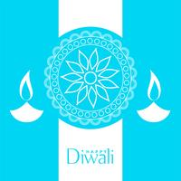 blue happy diwali background design