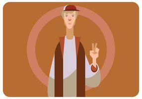 Peace Sign By A Dude Vector