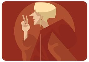 Peace-sign-by-blonde-girl-vector