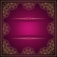 Fundo de vetor abstrato linda mandala de luxo