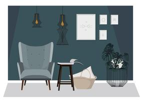 Vector Beautiful Interior Illustration