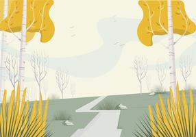 Vektor vacker landskaps illustration