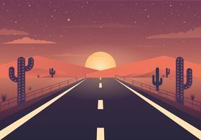 Vector hermoso paisaje ilustración