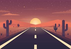 Vector Beautiful Landscape Illustration
