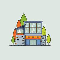 Modern Cabin in the Woods Vector