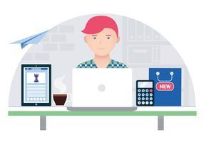 Vector Designer's Desktop Illustration