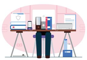 Desktop-Illustration des Vektor-Designers