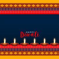indù diwali festival design di stile etnico saluto