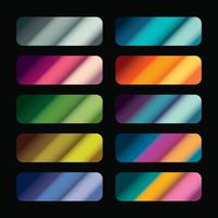 Gradient swatches vector