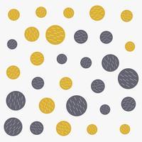 abstract circles pattern gold and gray shades