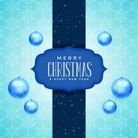 Feliz Navidad y año nuevo diseño de tarjeta de felicitación con realista