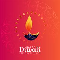 creatief diya ontwerp voor diwali festival