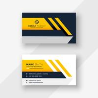 elegant yellow geometric business card design