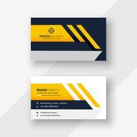 elegant yellow geometric business card design