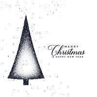 kreativ julgran design gjord med stipple prickar