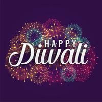 happy diwali fireworks background design