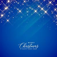 beautiful blue sparkles and stars background for christmas seaso