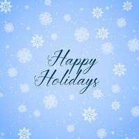 Glad semester bakgrund med snöflingor mönster