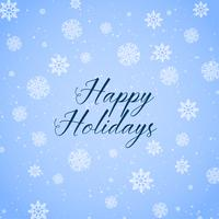 happy holidays background with snowflakes pattern