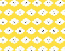 happy cloud seamless pattern
