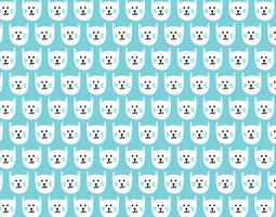 happy kitty seamless pattern