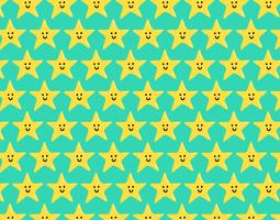 happy star seamless pattern