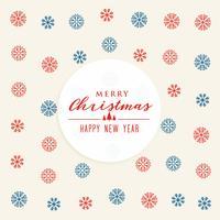 Schneeflocken Muster Design Hintergrund für Weihnachten und Neujahr