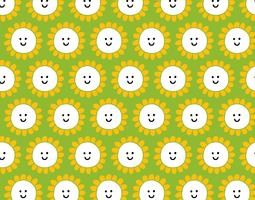 smiley happy flower pattern
