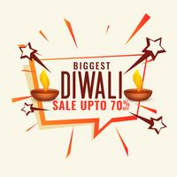 disount and sale banner for diwali festival