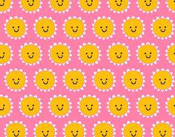 smile sunshine seamless pattern