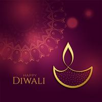 beautiful golden diwali diya festival background