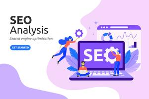 SEO Analysis design concept. modern flat style. Vector illustra