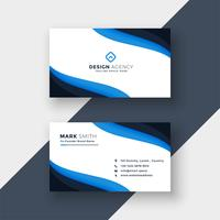 elegant blue  modern business card design