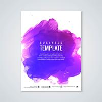 Abstract colorful watercolor brochure template design