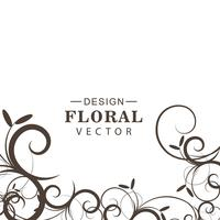 Vector de fondo floral decorativo abstracto